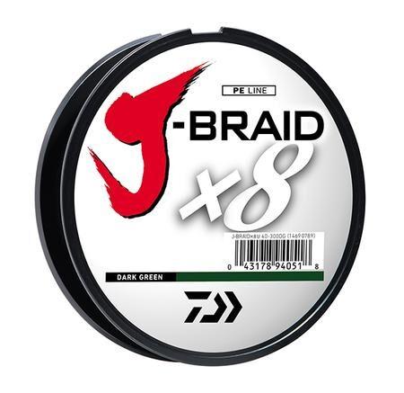 DAIWA J-BRAID X8 BRAIDED LINE 300m