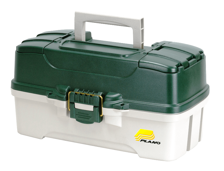 Plano THREE-TRAY TACKLE BOX - GREEN