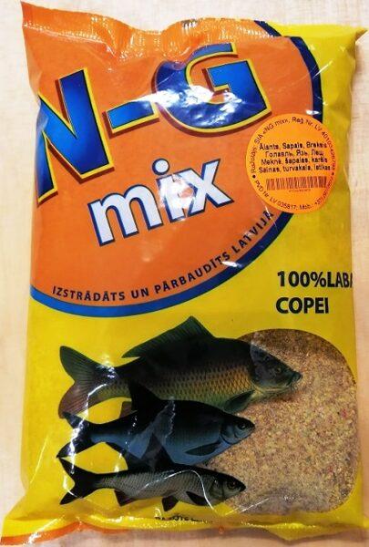 Zivju papildbarība N-G mix Alants, Sapals, Breksis 1 kg